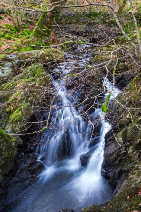 Waterfall near Thirlmere i the Lake District. Fuji XT2.