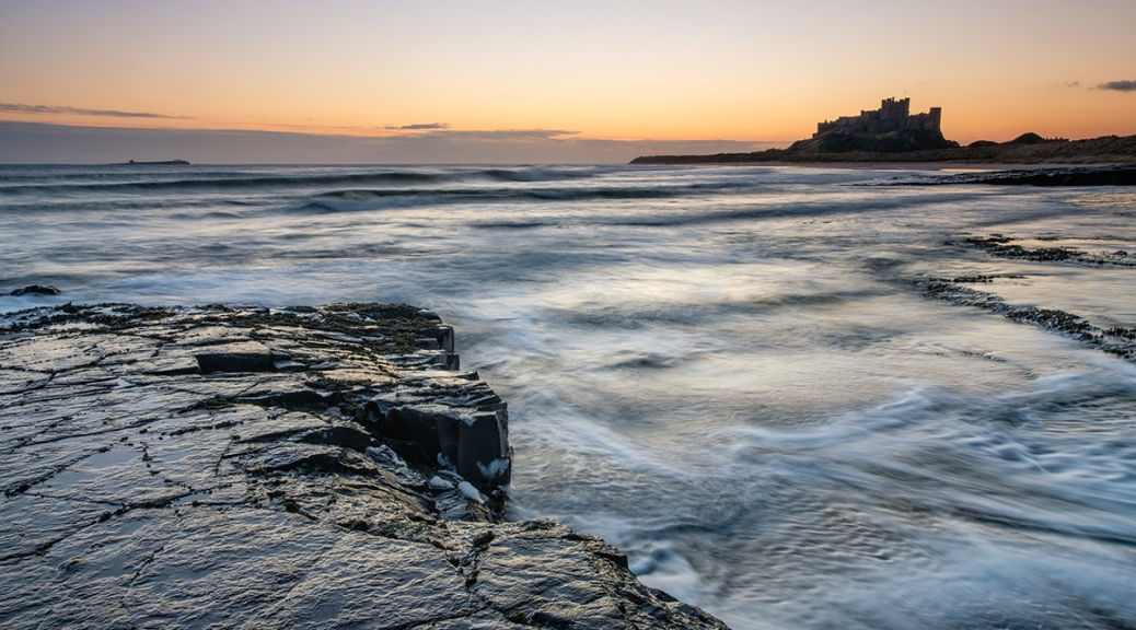 Bamburgh Castle at sunrise