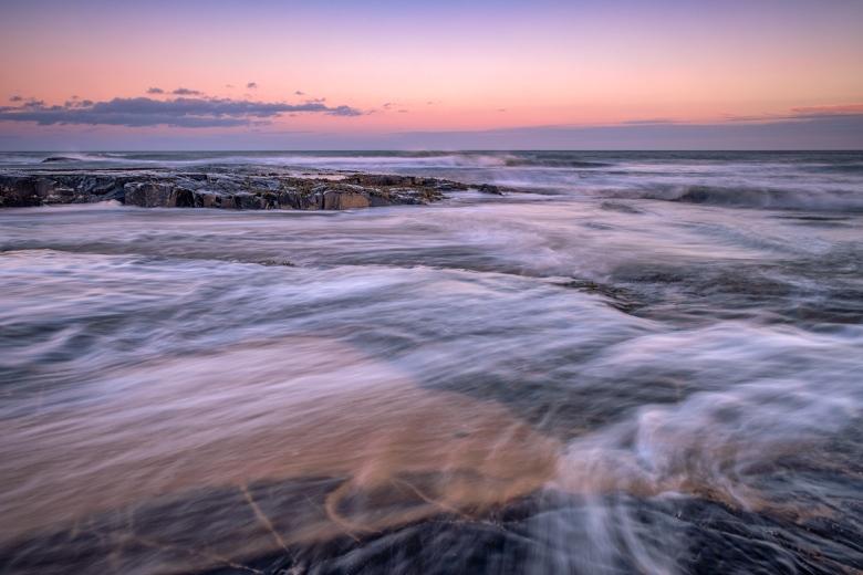 Northumberland coastal sunrise. Fuji XT2, Fuji 16-55mm Lens, Lee 0.6ND graduated filter.