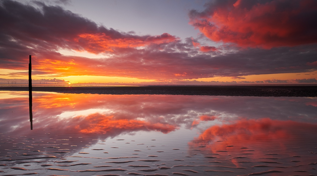 Formby Beach at Sunset