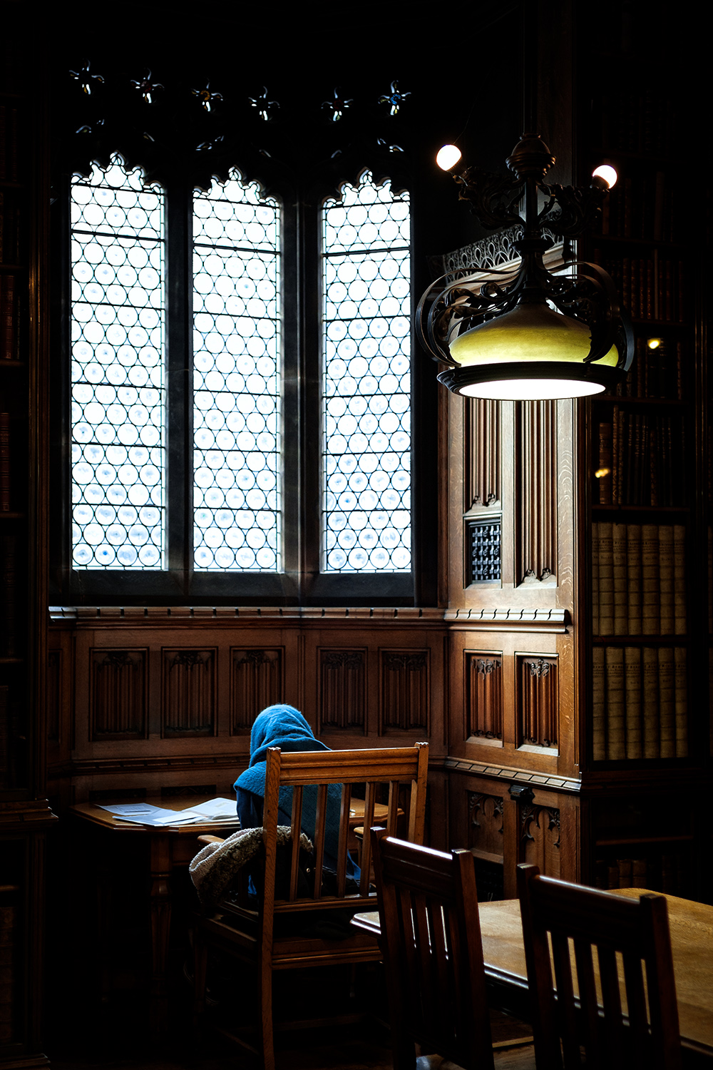 Studying in John Rylands Library, Manchester