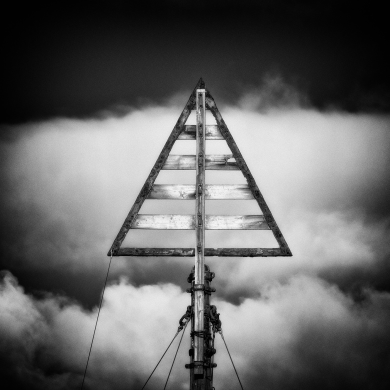Wooden structure on Formby Beach