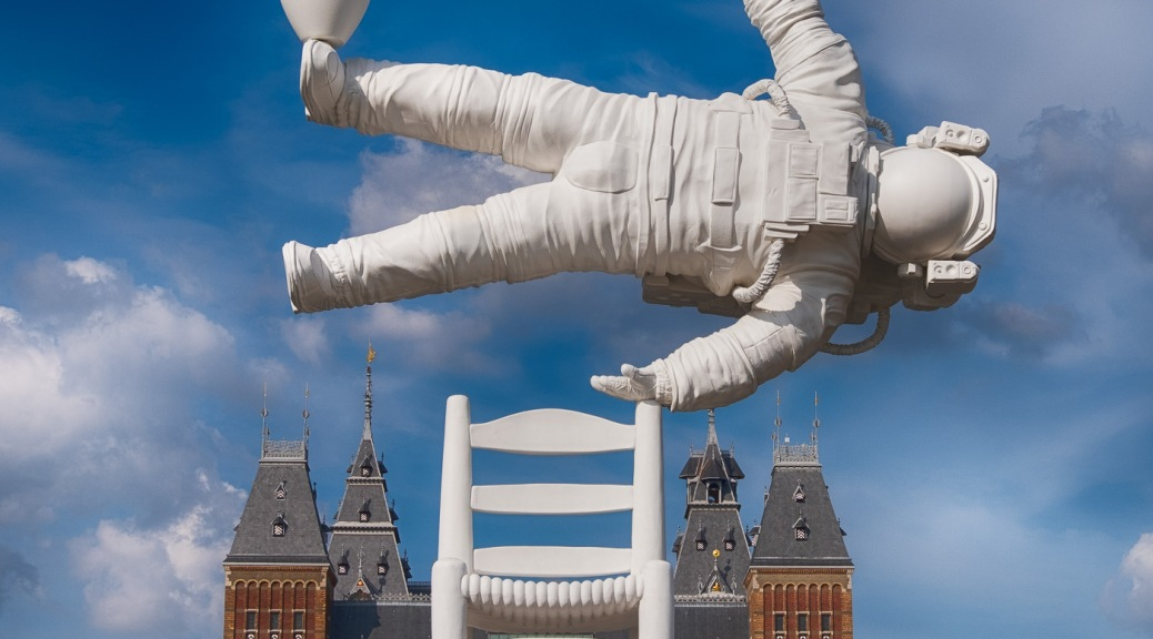 Art sculture in Amsterdam