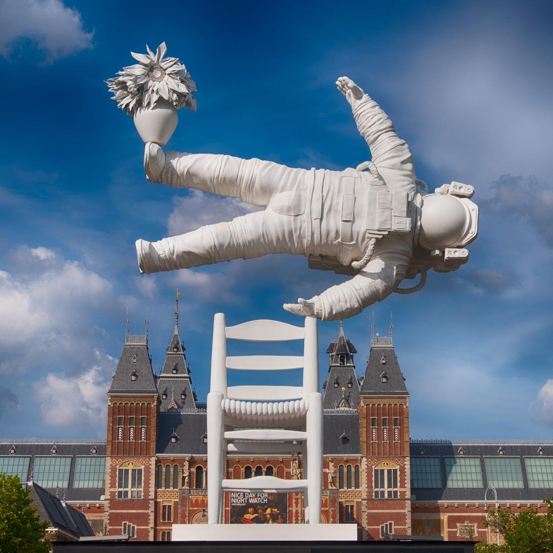 Art sculture in Amsterdam