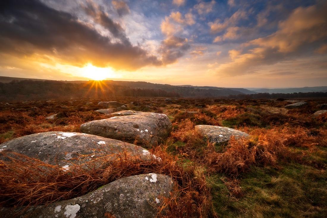 Lawrence Field sunrise, The Peak District