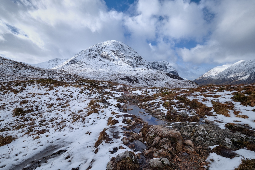 Snow Covered mountains on Rannoch Moore