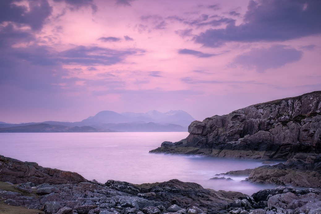 Landscape photography pre-dawn at Mellon Udrigle, Scotland