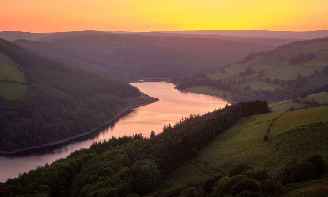 Ladybower sunset, Peak District