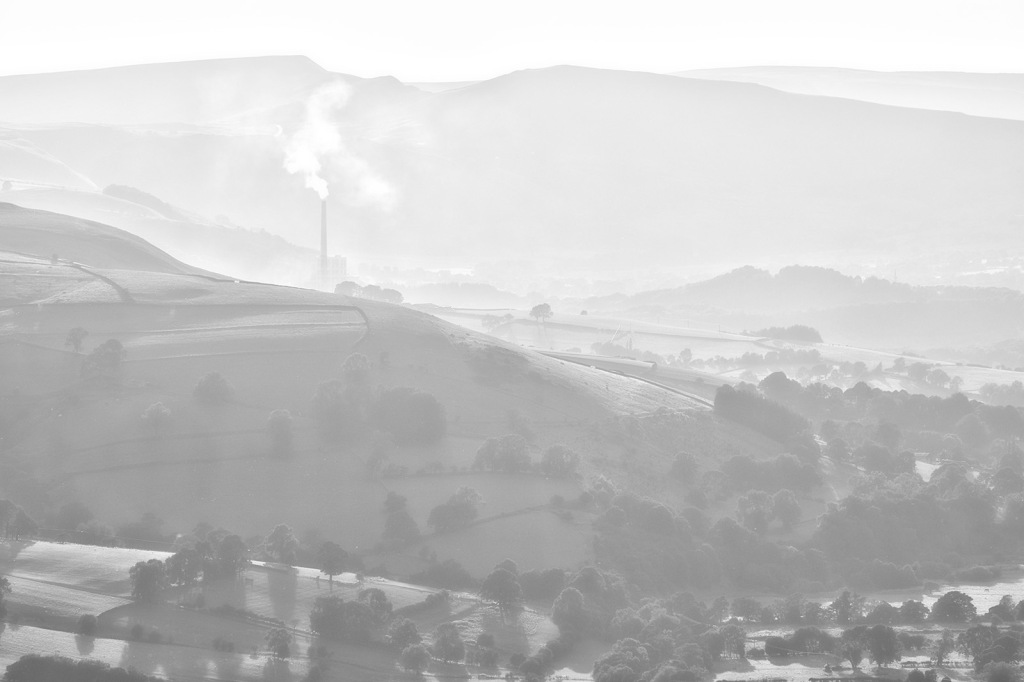 The Hope Valley cement works. The Peak District.