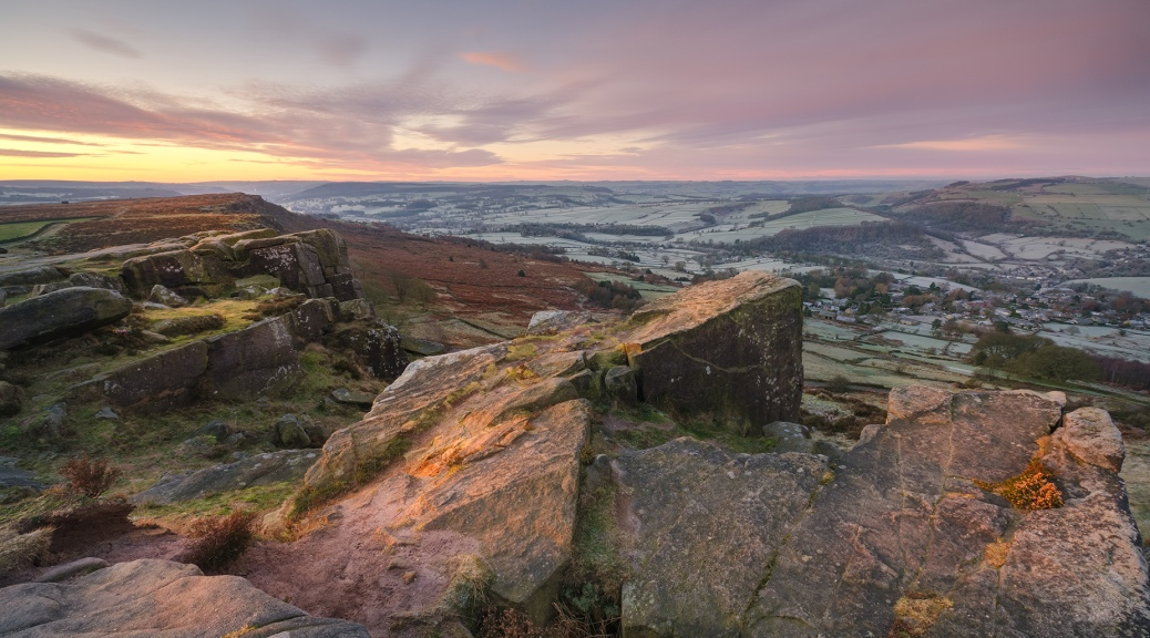 Curbar Edge winter sunrise
