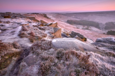 Higger Tor Frosty Sunrise, The Peak District