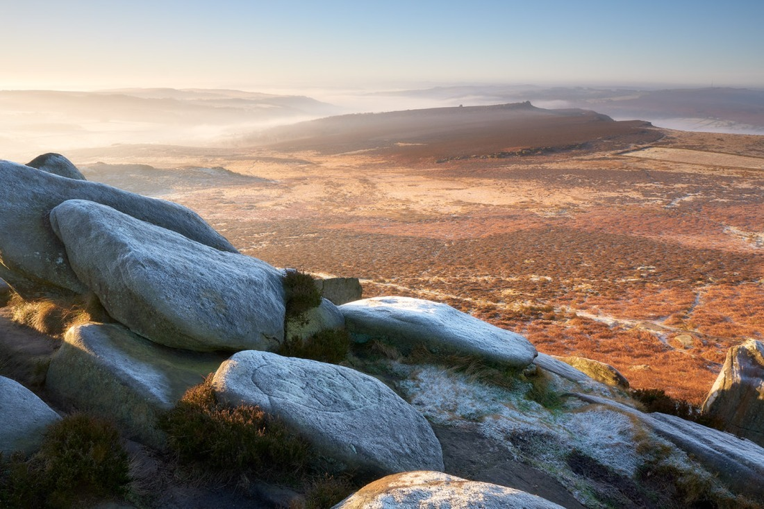 Frost morning on Higger Tor, Peak District