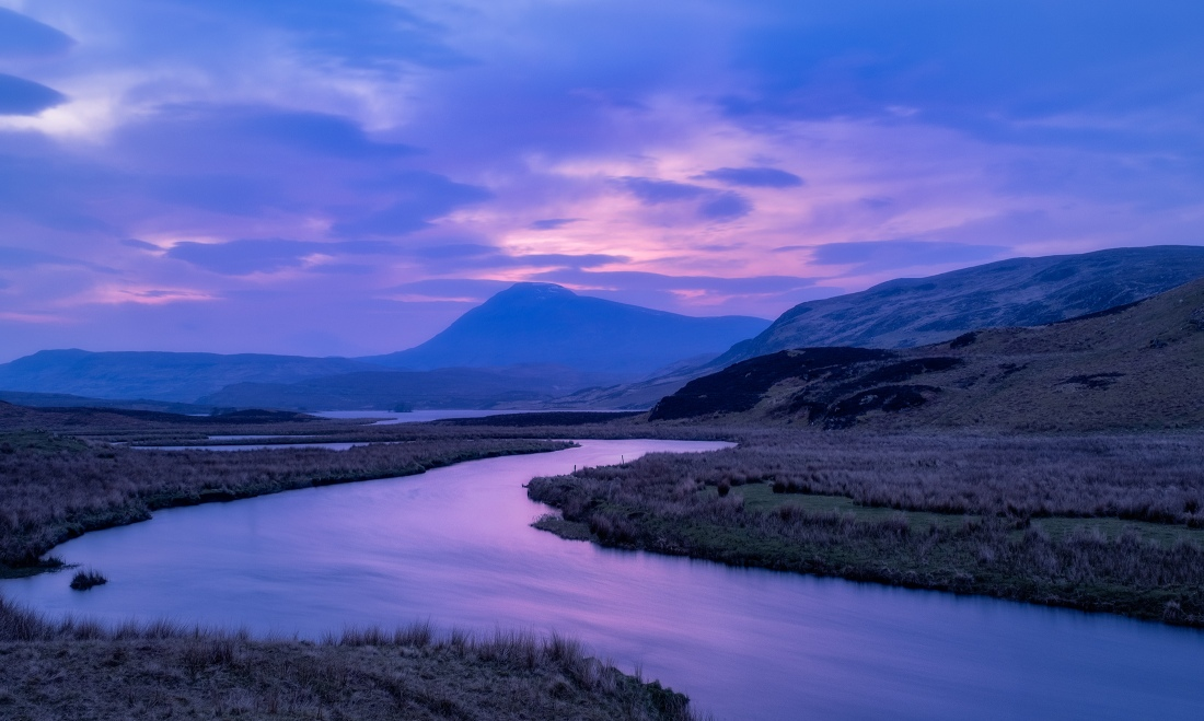 Blue Hour in the Highlands of Scotland.