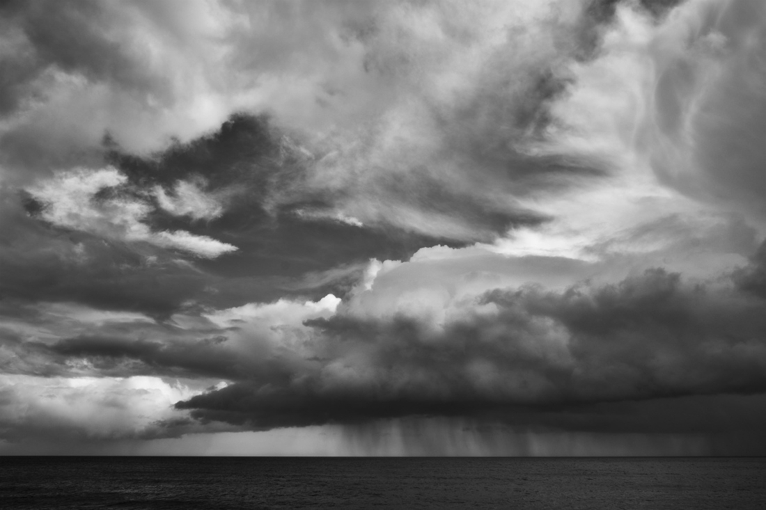 Storm over the sea at Dawlish, Devon
