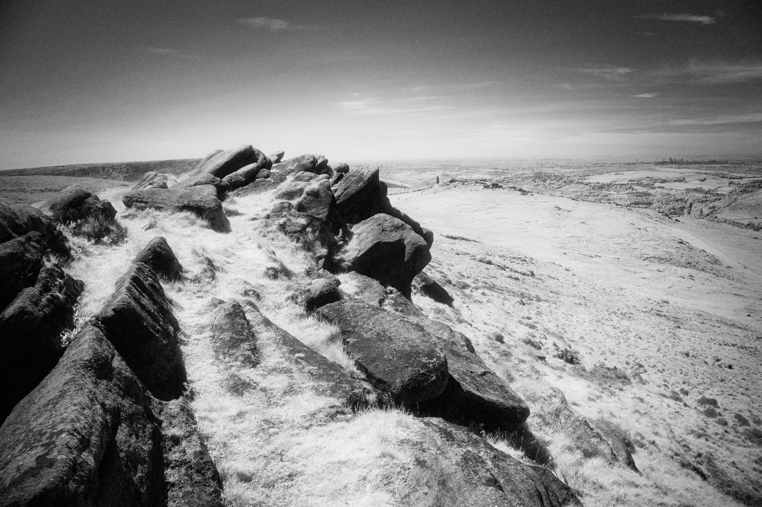 The Moors above Saddleworth in Infrared, Fuji X-T2