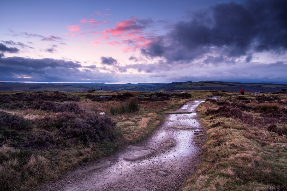 Curbar Edge, Blue Hour After a Storm