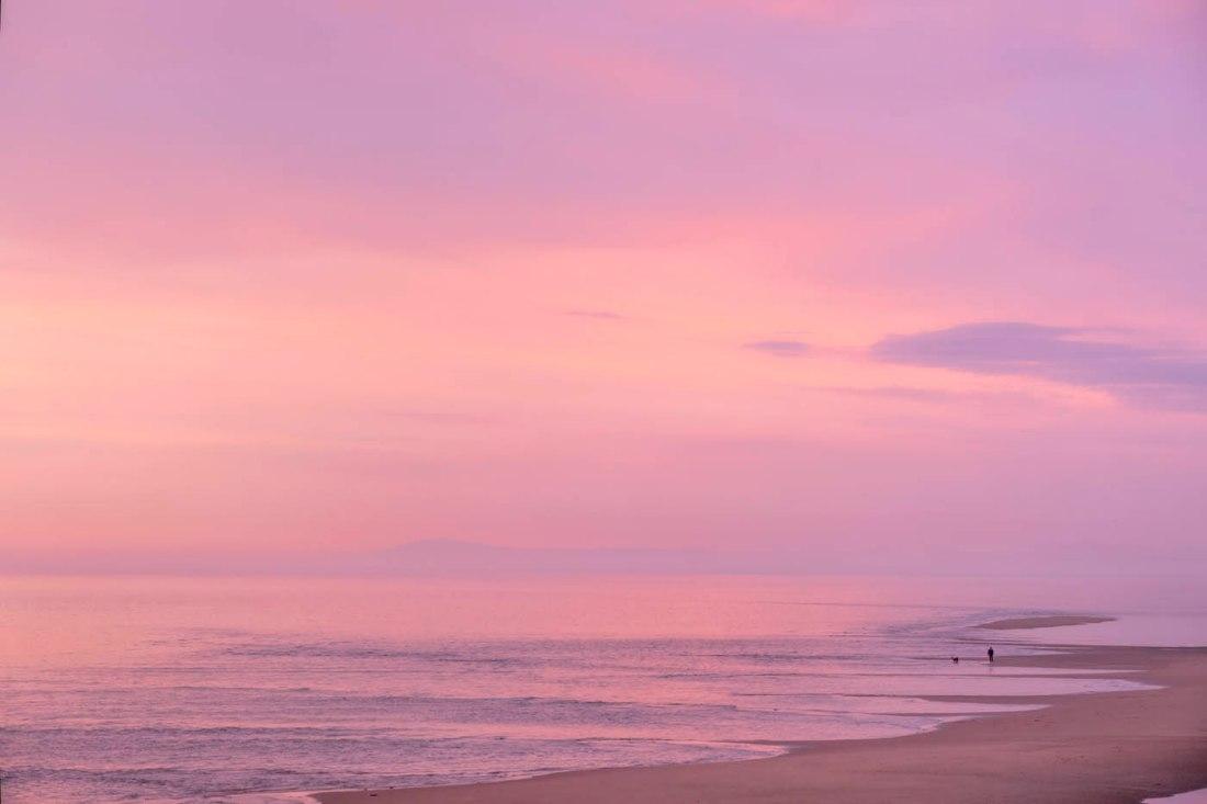 Blackpool Beach After Sunset