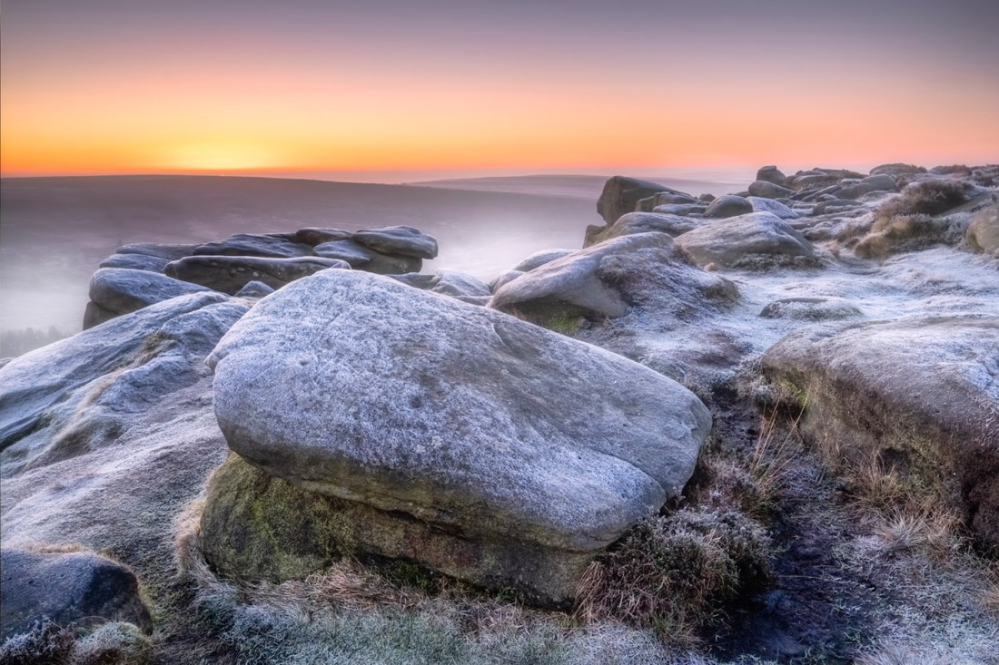 Higger Tor Sunrise in Winter
