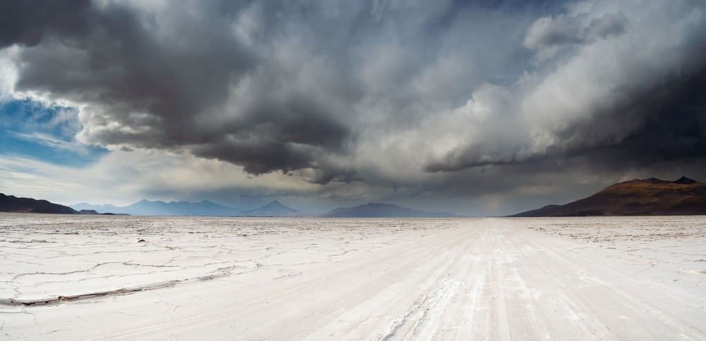 Salt Road and Storm, Bolivia