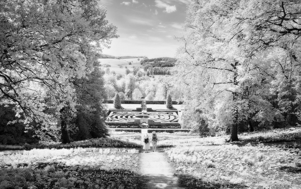 Chatsworth House gardens. Olympus EM5 with Infrared conversion and Panasonic 12-60 lens